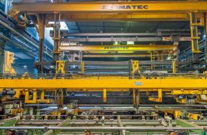 Usine fabrication barres chromées pour vérins hydrauliques